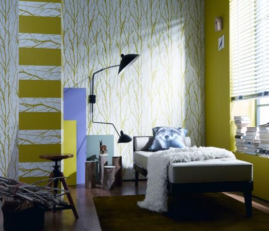 sch ner wohnen tapeten sch ner wohnen tapete. Black Bedroom Furniture Sets. Home Design Ideas