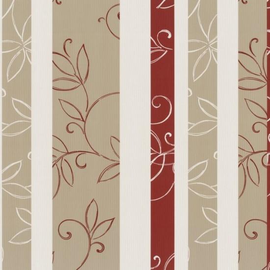 Dieter Bohlen Tapete K?che : Finesse Tapete P+S 05623-30 Tapete Blumen Streifen rot