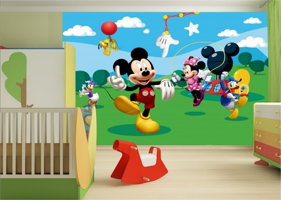 fototapete tapete disney mickey mouse micky maus kindertapete foto 360 cm x 254 cm. Black Bedroom Furniture Sets. Home Design Ideas