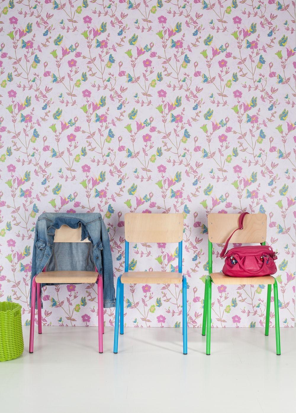 Barbara Becker Tapete Schmetterling : Tapete Rasch Vintage Chic Vliestapete 321585 Schmetterling rosa pink