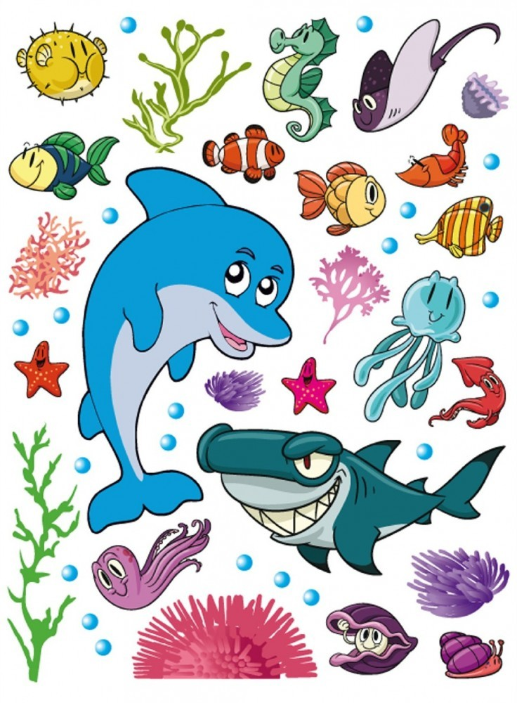 Kinder wandtattoo wandsticker tattoo wanddeko delphin for Kinder wandsticker
