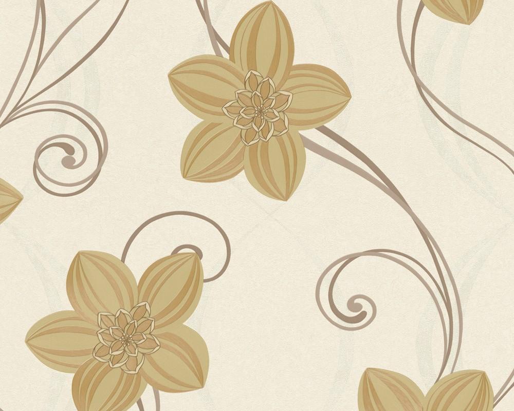 Innova Tapeten Hersteller : AS Creation Tapeten KAJA Vliestapete 9172-25 917225 Blumen beige