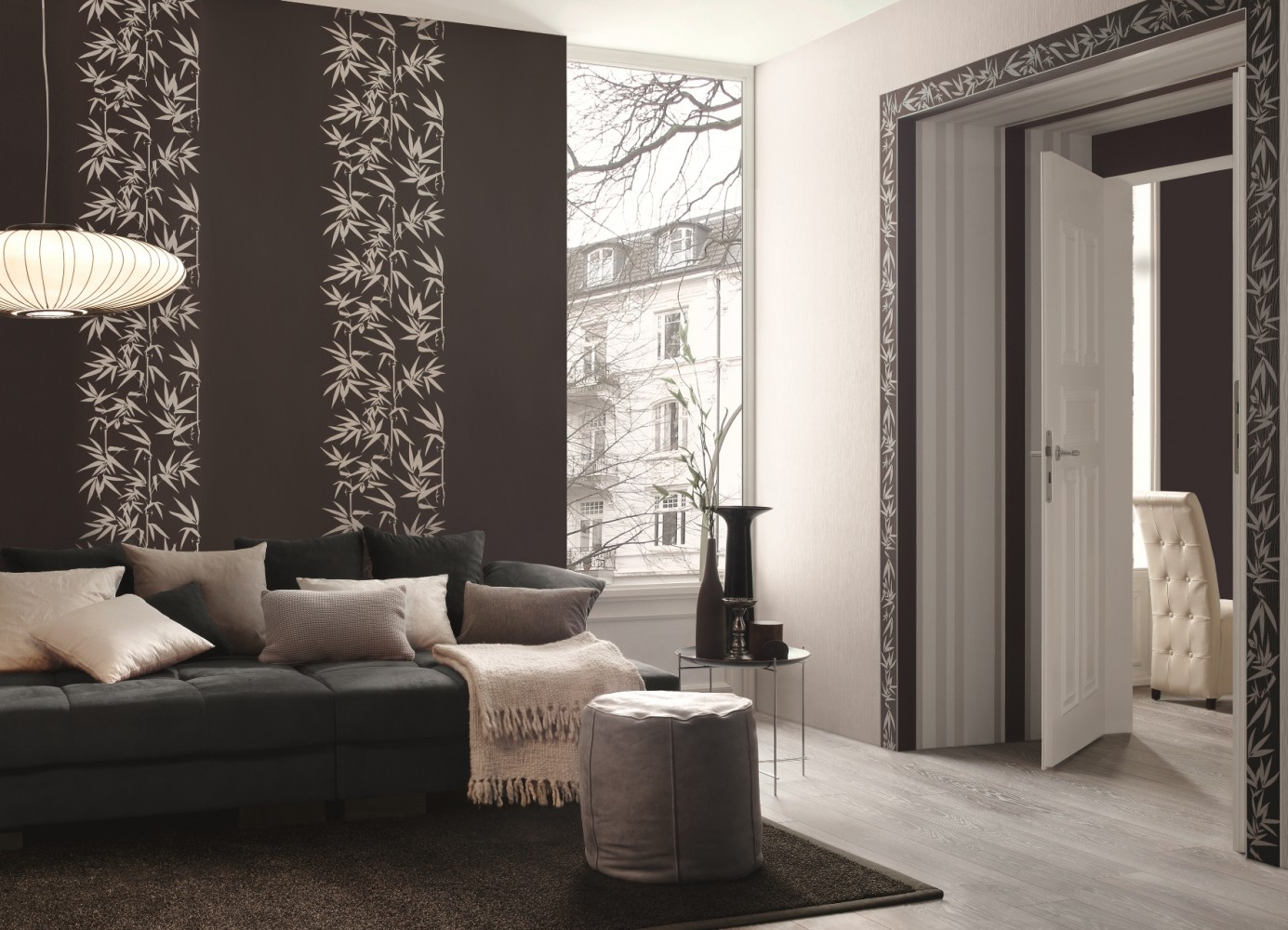 Vliestapete jette joop natur grau wei 2936 40 - Design tapeten wohnzimmer ...
