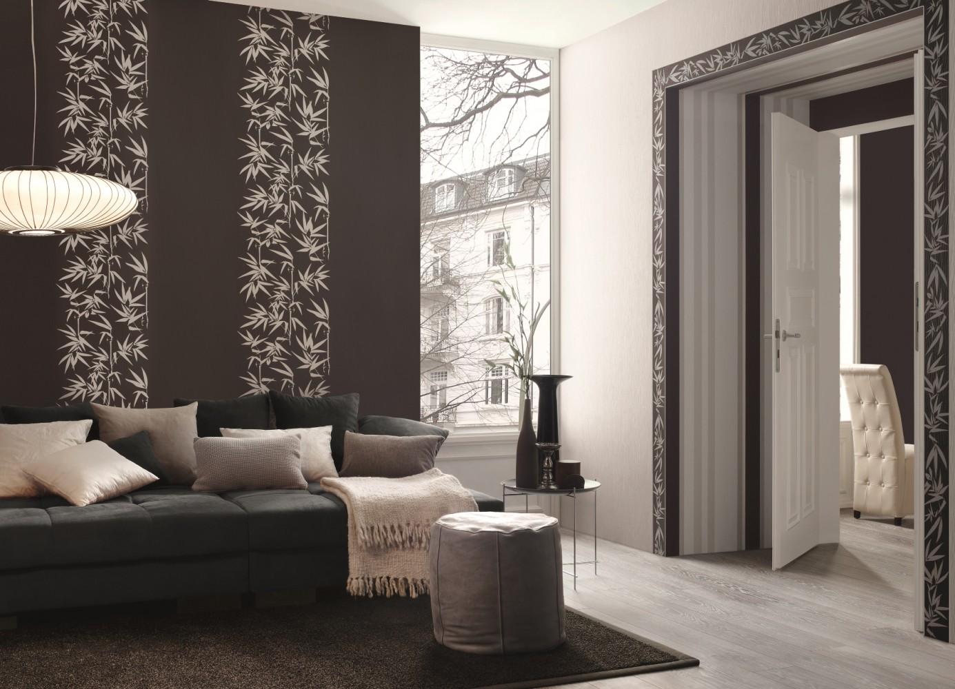 Jette Joop Tapete Streifen : Woven Bamboo Wallpaper