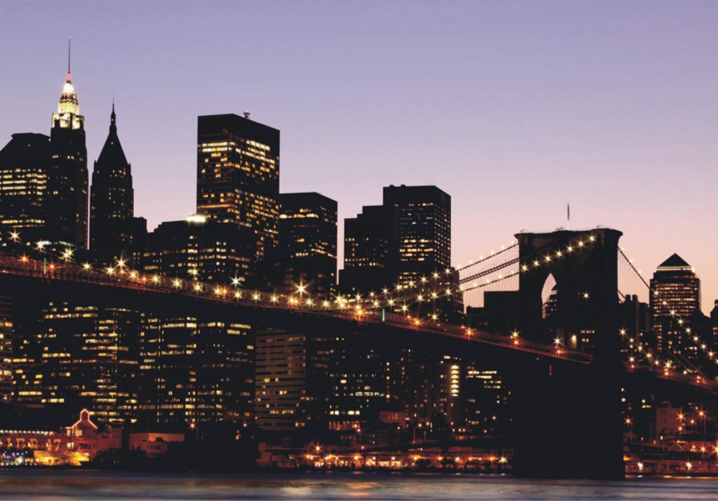 Wall Mural Wallpaper Brooklyn Bridge New York Skyline Nyc