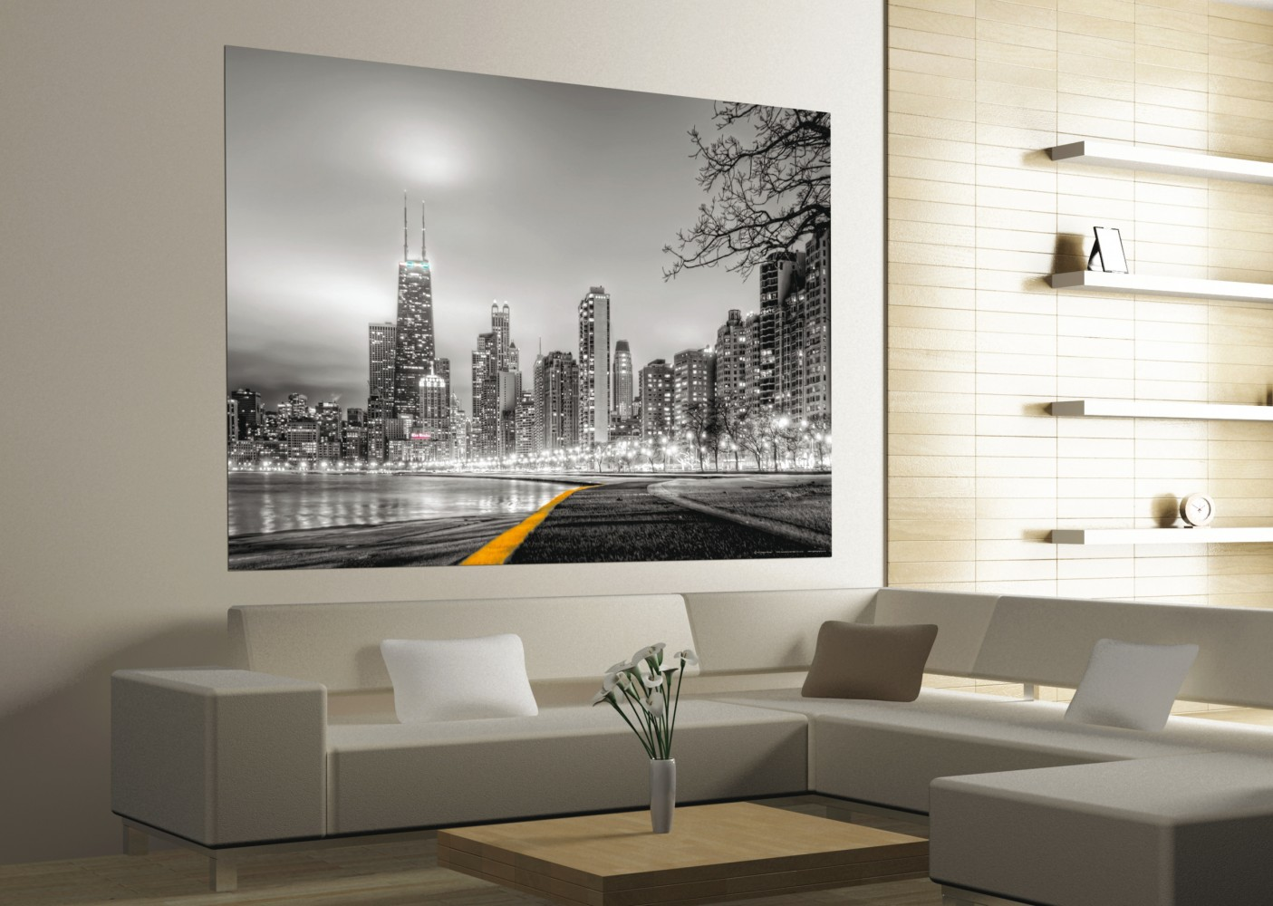 Xxl poster wall mural wallpaper new york skyline nyc photo for Poster mural xxl fleurs