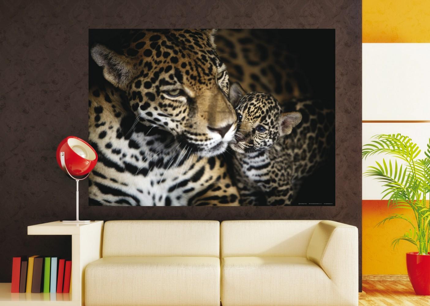 xxl poster fototapete tapete leopard wildniss safari panther foto 160 cm x 115 cm. Black Bedroom Furniture Sets. Home Design Ideas