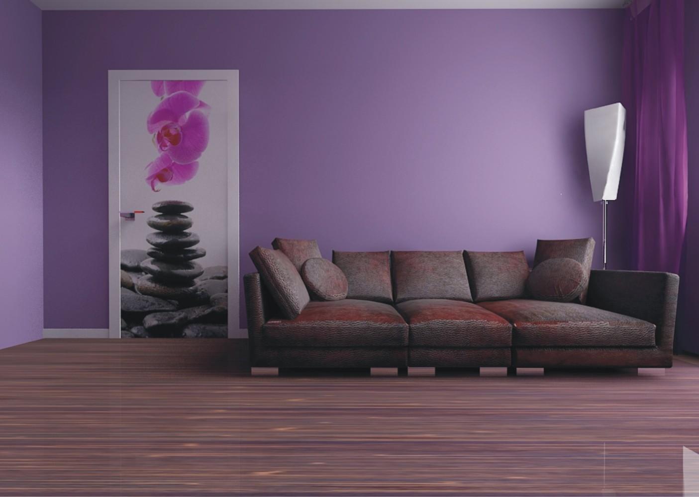 T rtapete fototapete tapete lila orchidee steine wellness - Colores de pintura para paredes interiores ...