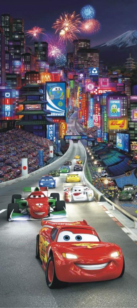 Door wallpaper wall mural wallpaper disney cars 2 in china for Cars movie wall mural