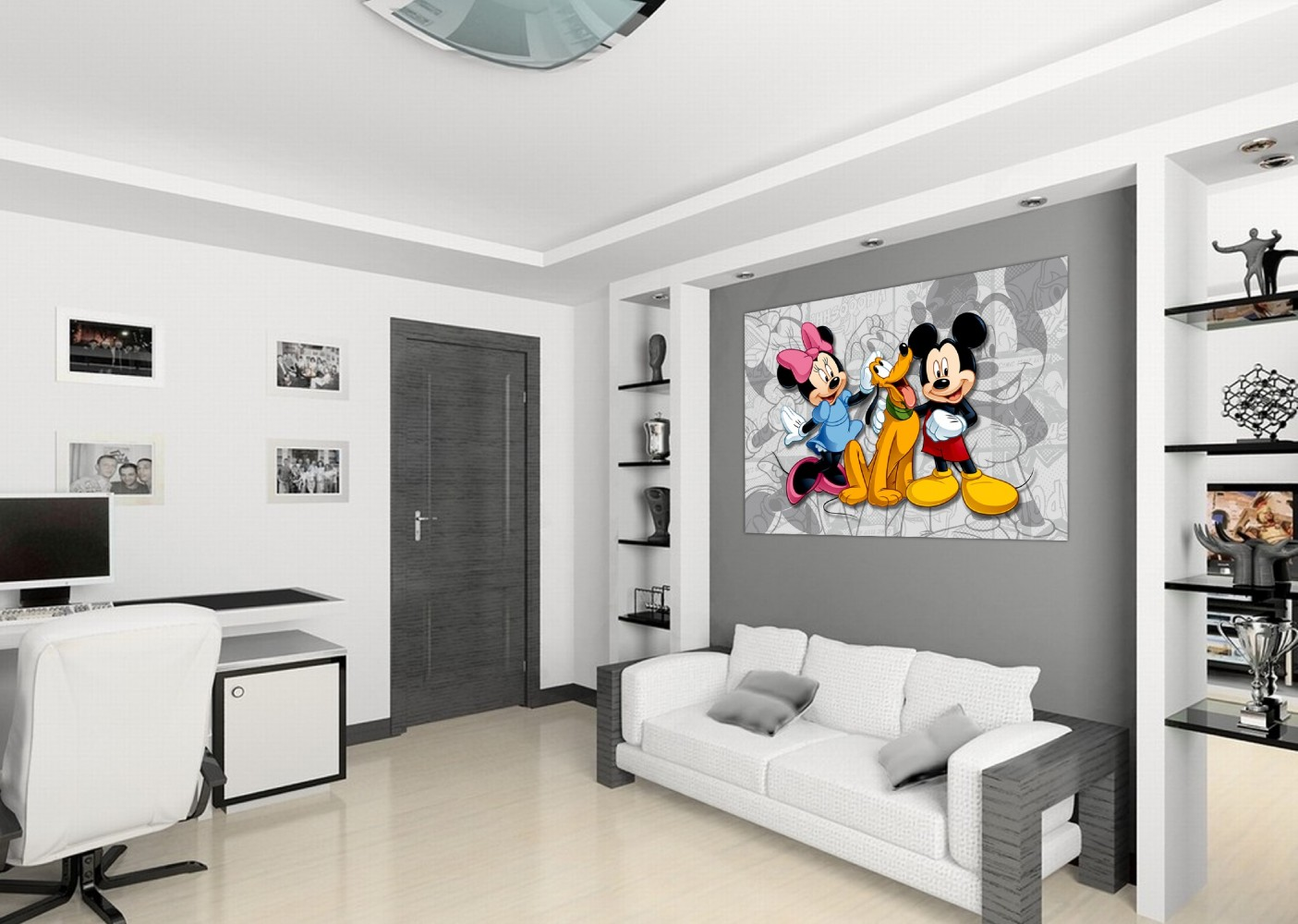 xxl poster fototapete tapete disney micky mouse minni. Black Bedroom Furniture Sets. Home Design Ideas