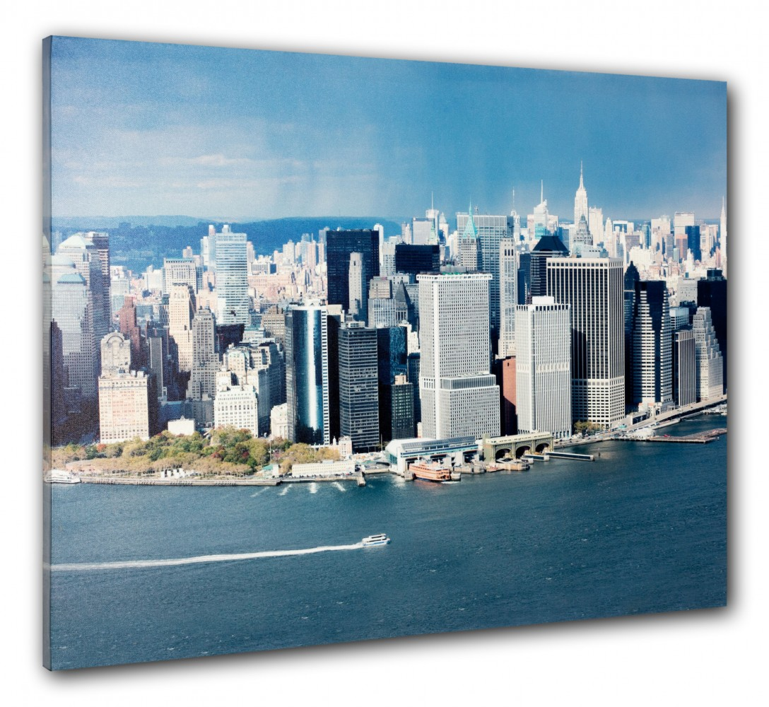 wandbild fotodruck keilrahmen bild new york skyline 3d manhattan nyc 60x80 cm. Black Bedroom Furniture Sets. Home Design Ideas