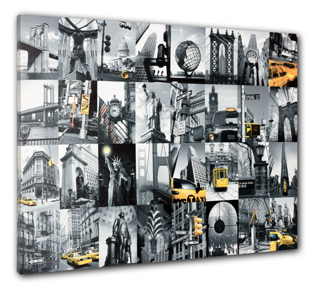 wandbild keilrahmen bild new york city cap freiheitsstatue golden gate 60x80 cm. Black Bedroom Furniture Sets. Home Design Ideas