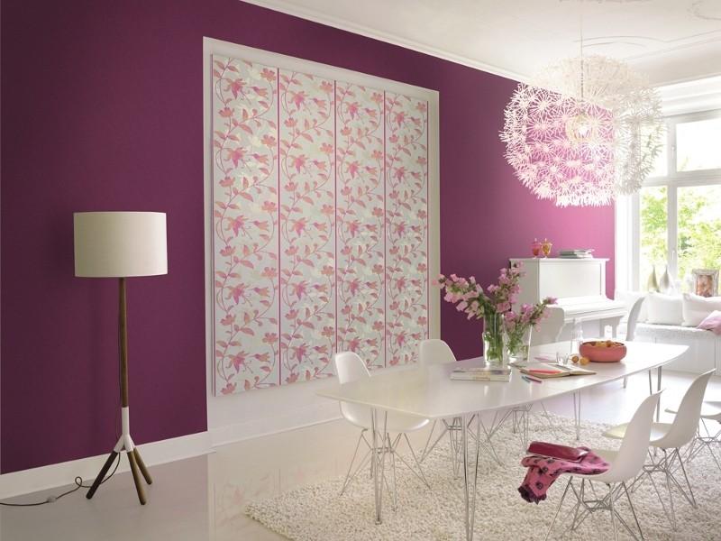 rasch tapeten flower poetry 451214 blumen lila orange. Black Bedroom Furniture Sets. Home Design Ideas