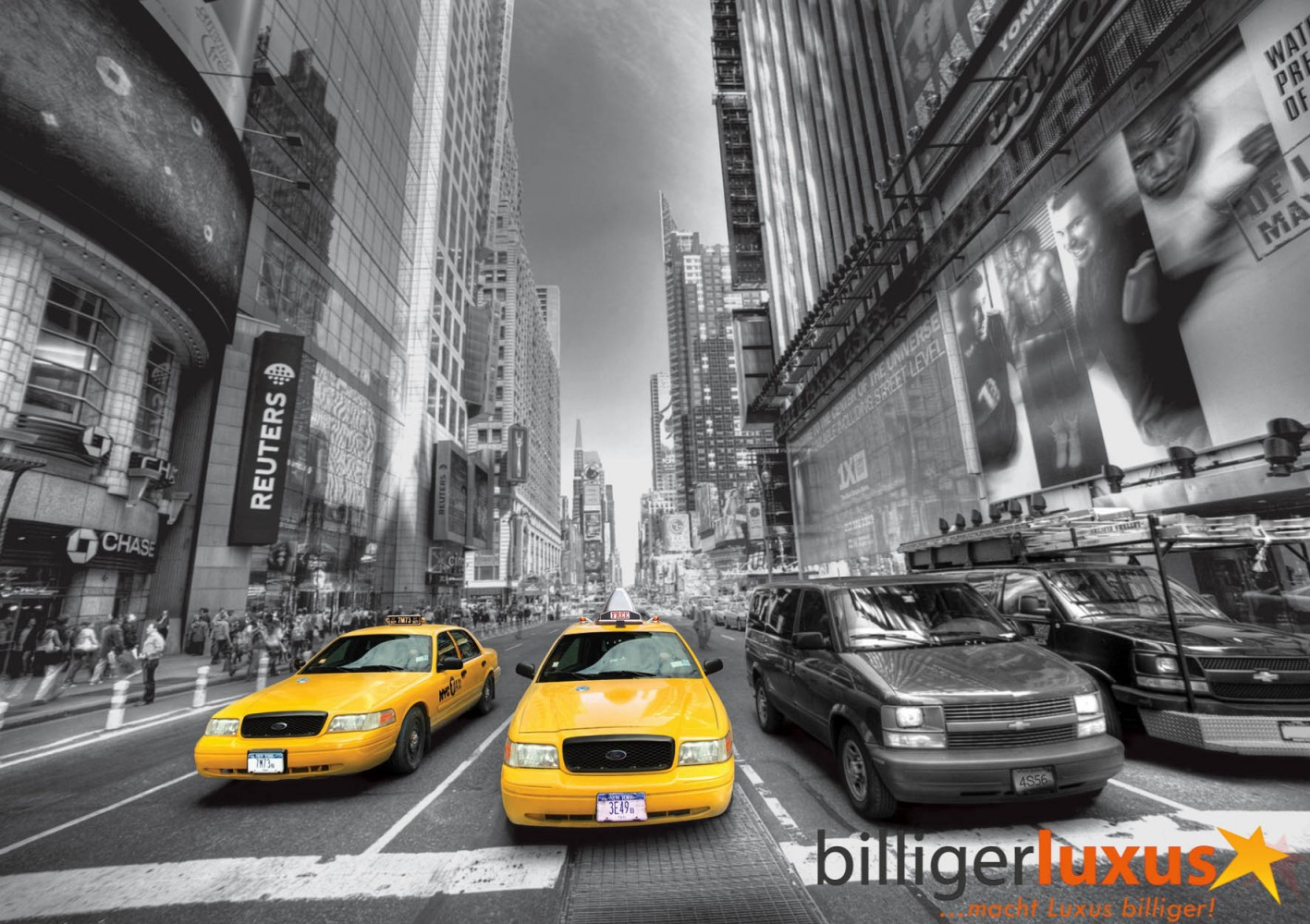 fototapete tapete taxi yellow cap new york auto schwarz wei foto 360 x 254 cm. Black Bedroom Furniture Sets. Home Design Ideas