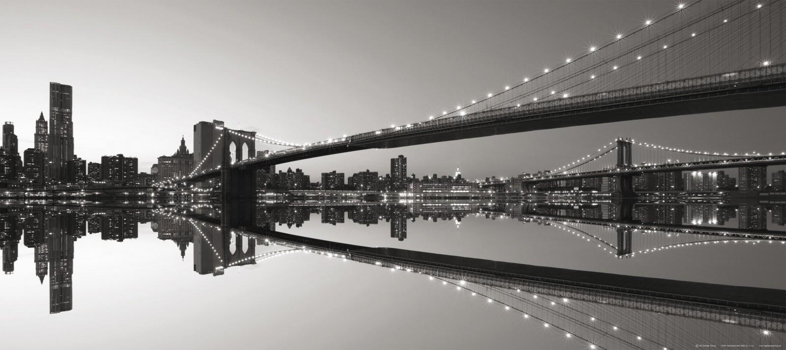 fototapete tapete br cke brooklyn bridge new york nyc. Black Bedroom Furniture Sets. Home Design Ideas
