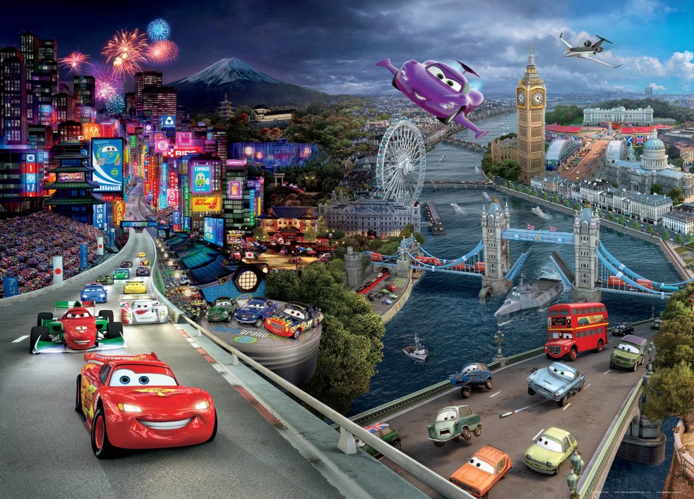 XXL Poster Fototapete Tapete Disney Pixxar Cars 2 Cars ...
