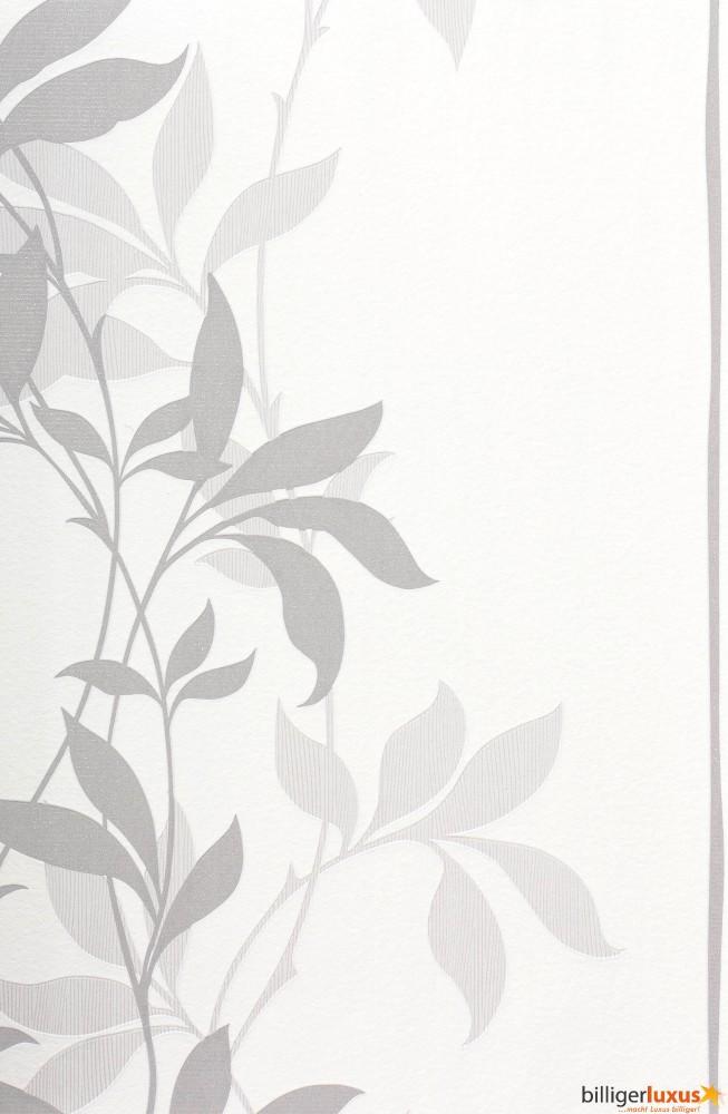 Vliestapete blumen grau wei lacantara ps 13232 20 for Roller tapeten