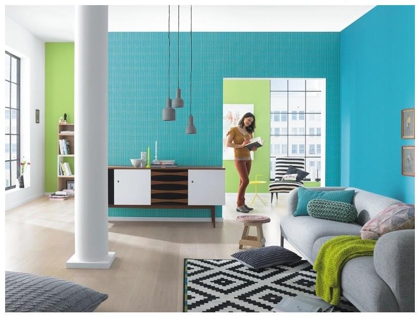 Tapeten Wohnzimmergestaltung Türkis: Modernes Haus Wohnzimmer Blau ... Wohnzimmer Grun Turkis
