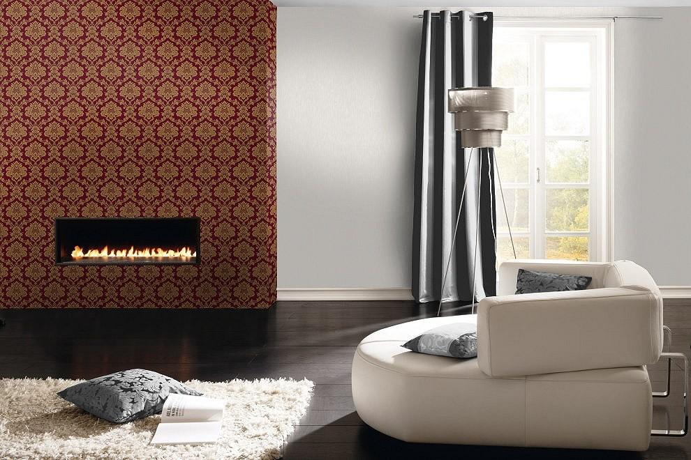 Tapete barock rasch trianon rot gold 505368 - Tapeten rasch wohnzimmer ...