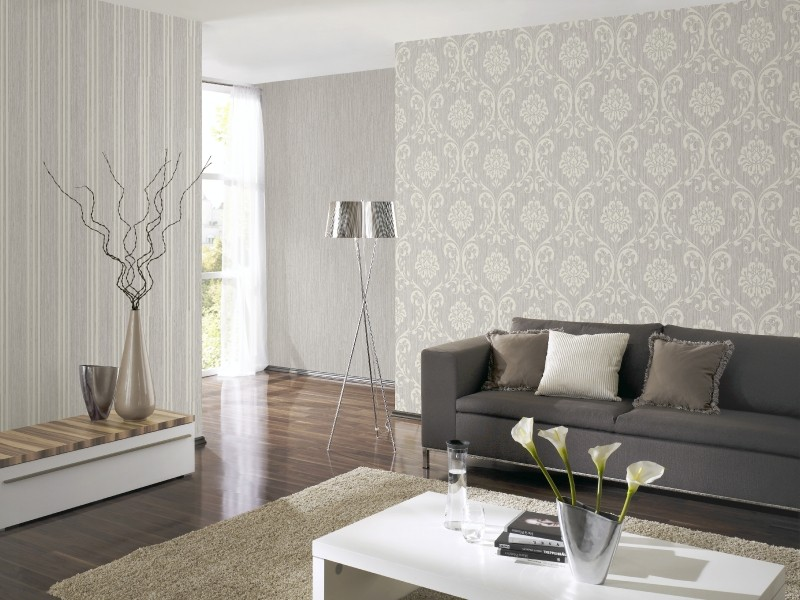 tapete ornament vliesapete p s 13110 50 1311050 barock grau silber. Black Bedroom Furniture Sets. Home Design Ideas