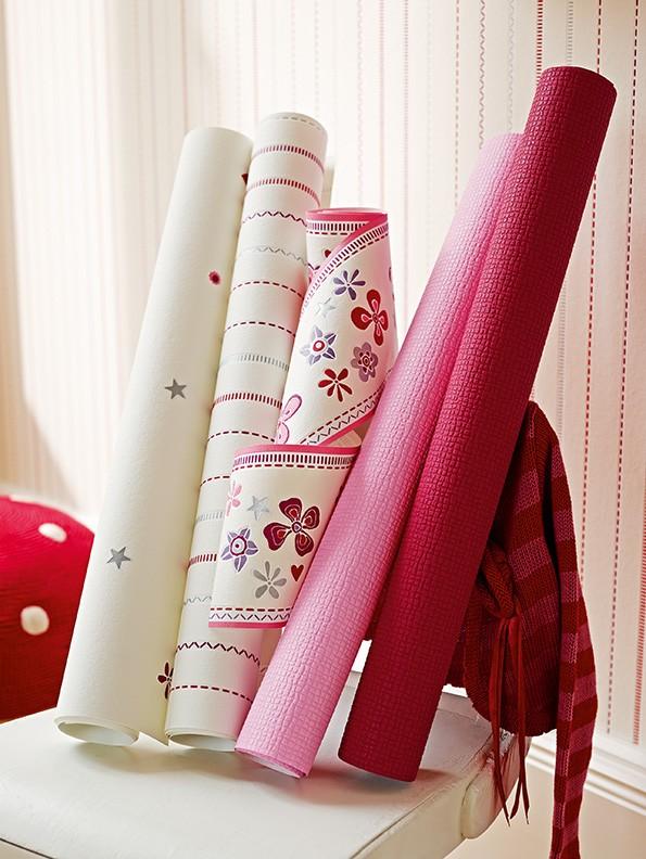 Kinderborte esprit kids floral wei pink 94127 3 - Verdunklungsstoff kinderzimmer ...