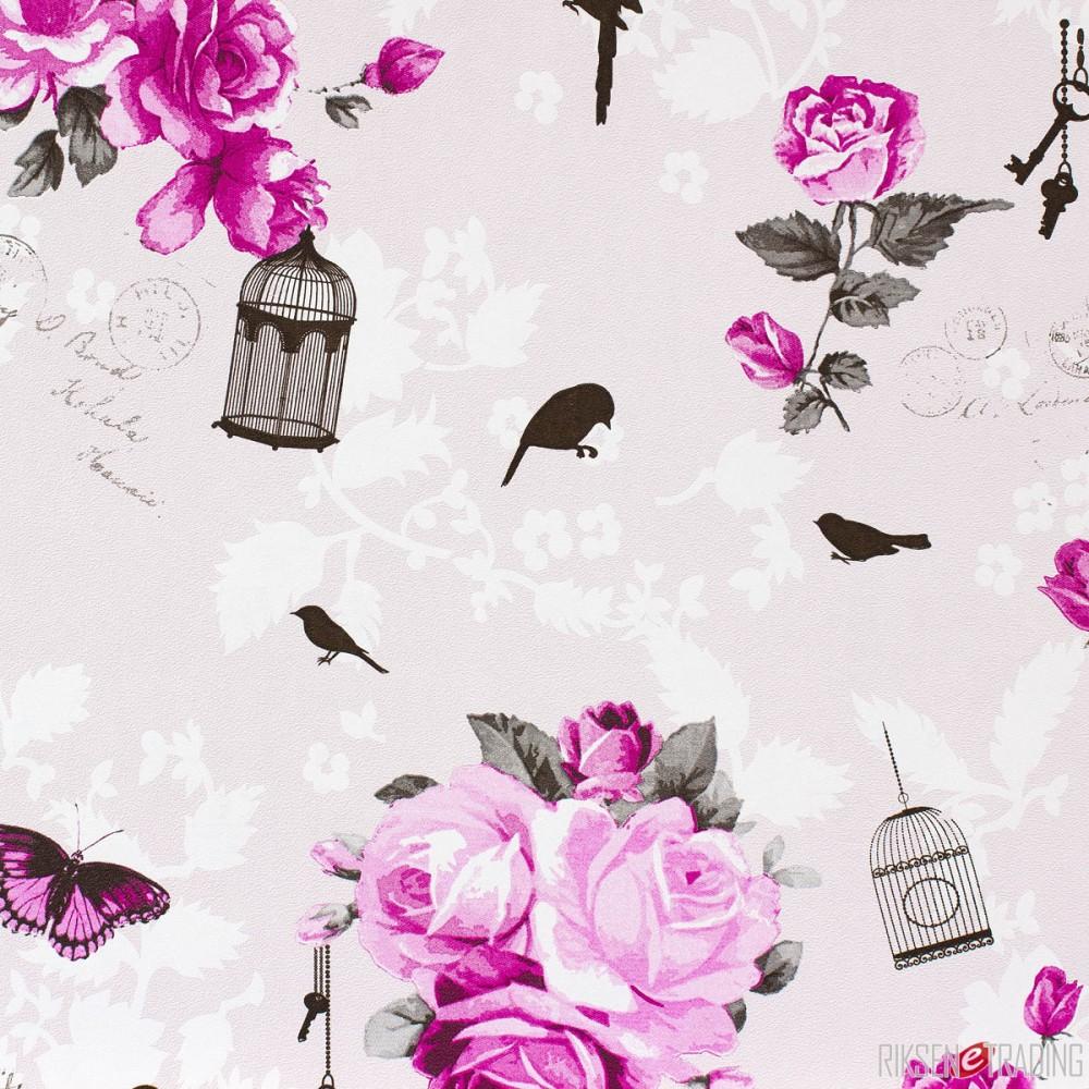 Romantische Tapeten Belle Rose : Tapete Marburg Zuhause Wohnen Floral grau 54726