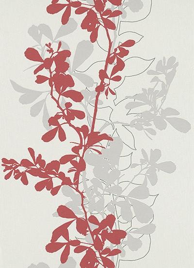 wohnzimmer rot weiß: Tapeten Design Rot Weià Wohnzimmer Ideen Cybele on Pinterest