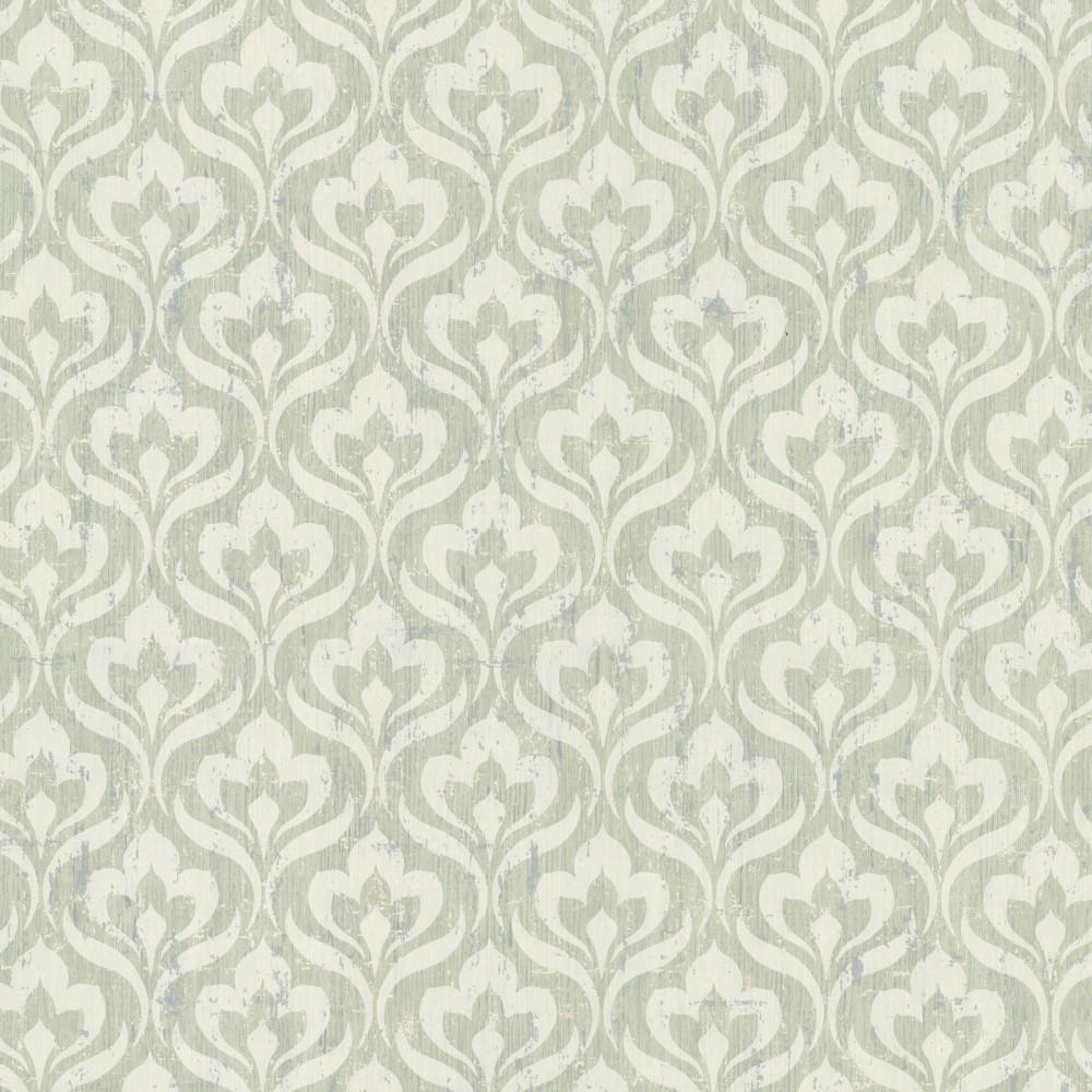 tapete rasch textil barock gr n grau 20056. Black Bedroom Furniture Sets. Home Design Ideas