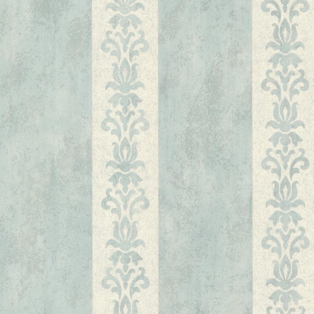 Tapete Rasch Textil Streifen blau creme 20078