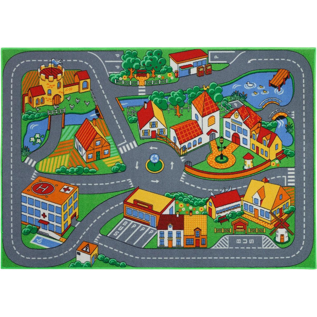 Kinderteppich Spielteppich Stadt 95x133 Cm Stra 223 Enteppich