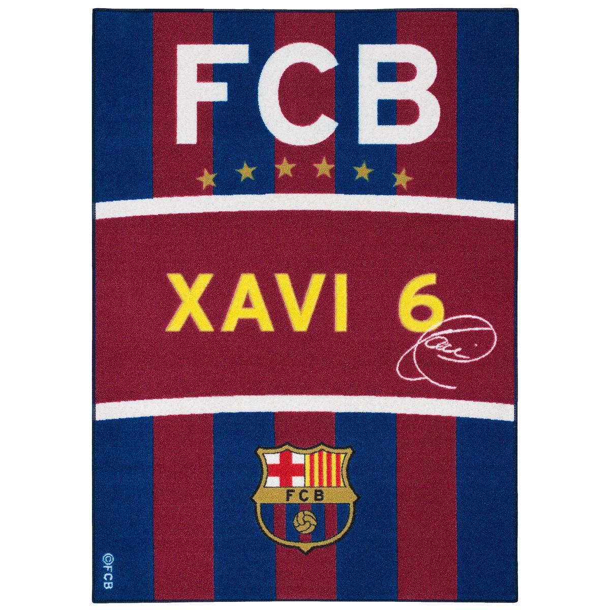 Teppich Barcelona Spielteppich Xavi Fanteppich 95×133 cm