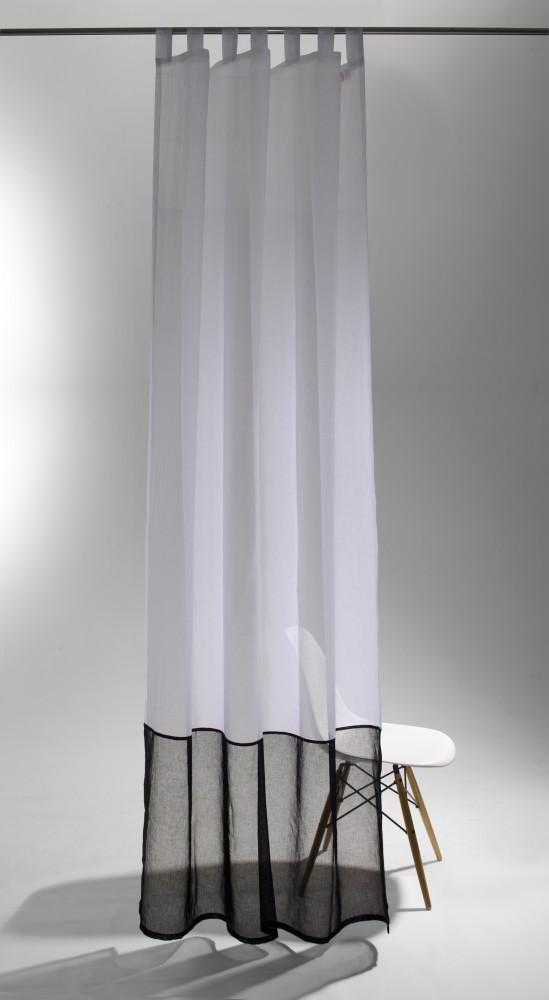 schlaufenschal raffi duet 140 x 255 transparent batiststruktur 5782 07 wei graphit. Black Bedroom Furniture Sets. Home Design Ideas