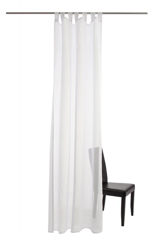 schlaufenschal homing colmar 140 x 245 transparent batiststruktur 5687 03 wei. Black Bedroom Furniture Sets. Home Design Ideas