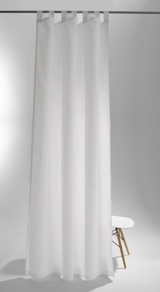 schlaufenschal raffi terra ko tex 140 x 255 vorhang blickdicht 5781 08 wei. Black Bedroom Furniture Sets. Home Design Ideas