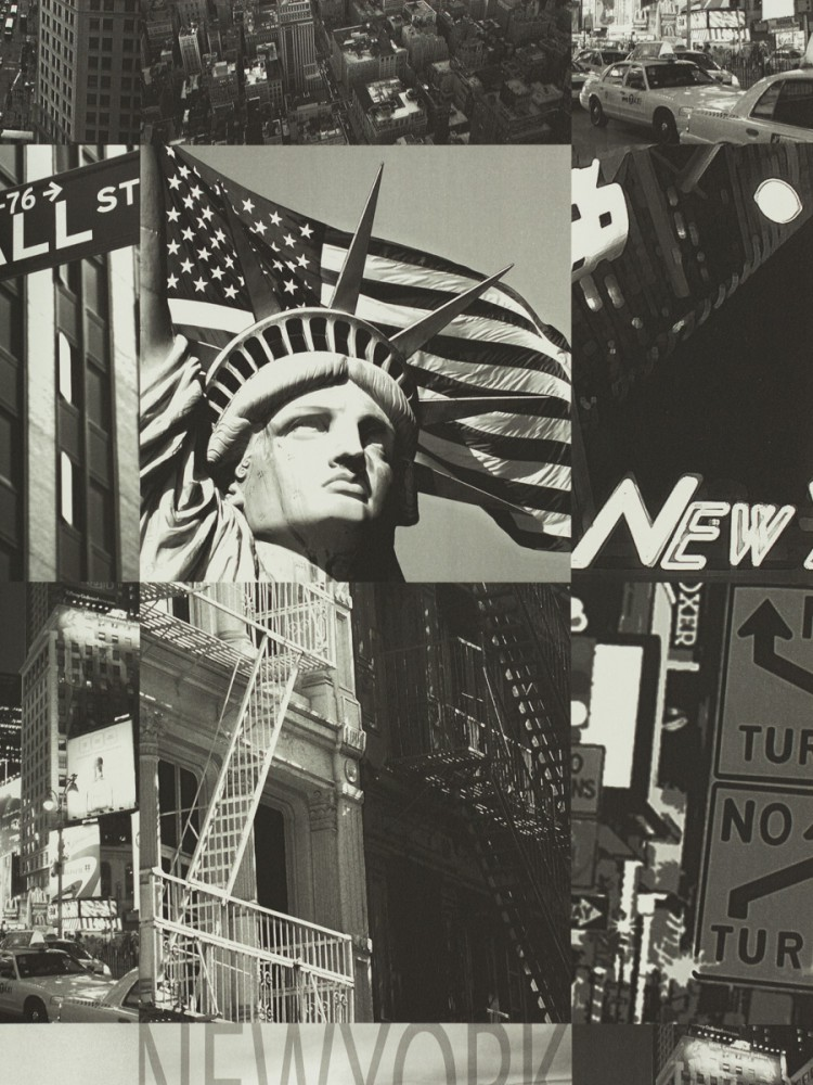 Grey New York Wallpaper New York Design Black Grey
