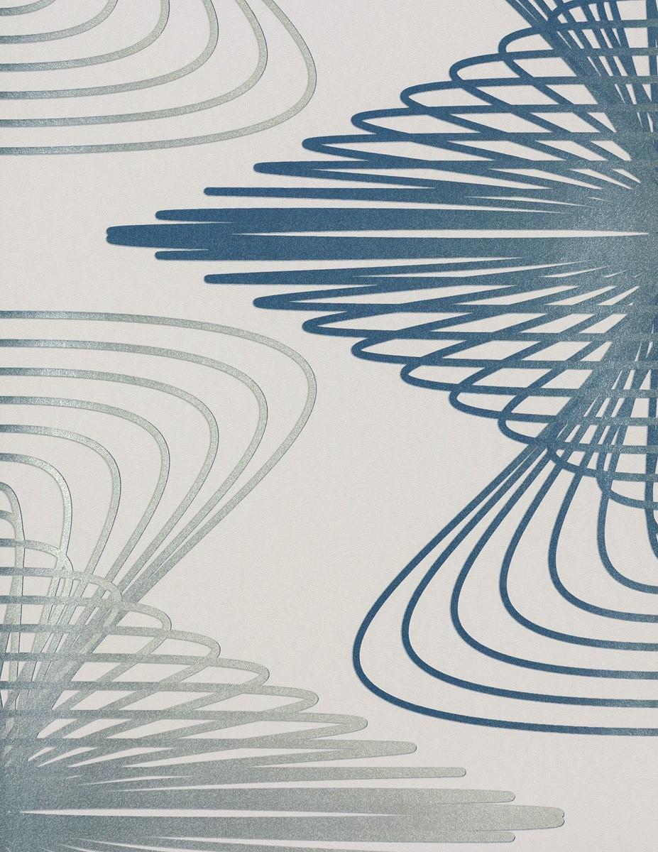 karim rashid vliestapete globalove tapete 55023 design creme blau silber. Black Bedroom Furniture Sets. Home Design Ideas