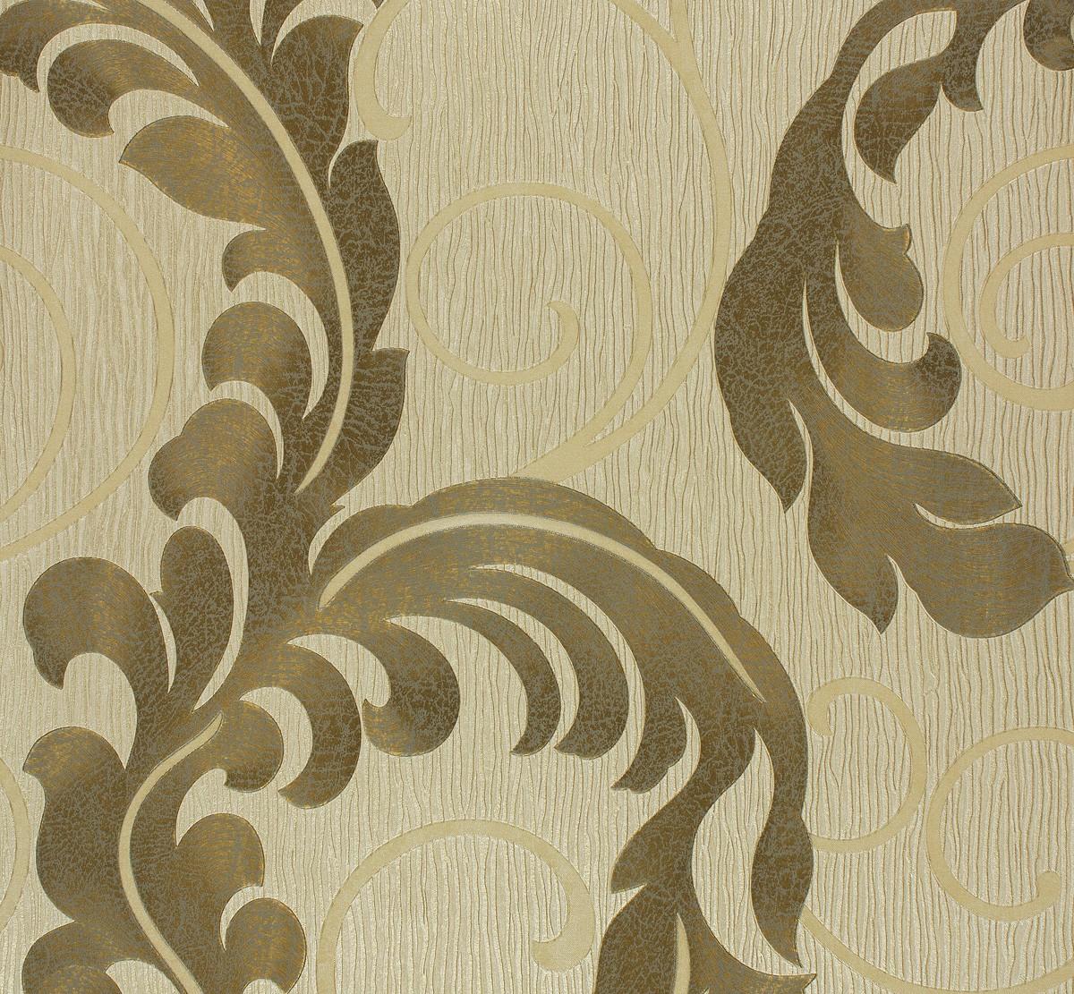 vliestapete ranken beige gold marburg da milano 55102. Black Bedroom Furniture Sets. Home Design Ideas