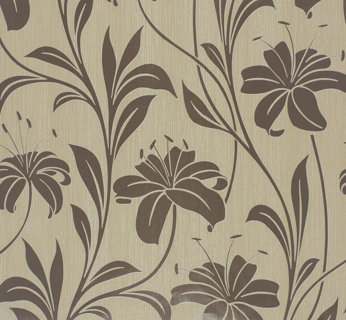 Marburg Tapeten Muster Bestellen : Vliestapete Floral beige taupe Marburg Da Milano 55119