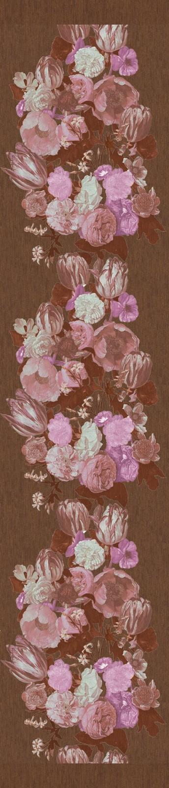 Marburg Tapeten Cuvee Prestige : Marburg 320 x 70 cm Panel 54974 Floral braun metallic