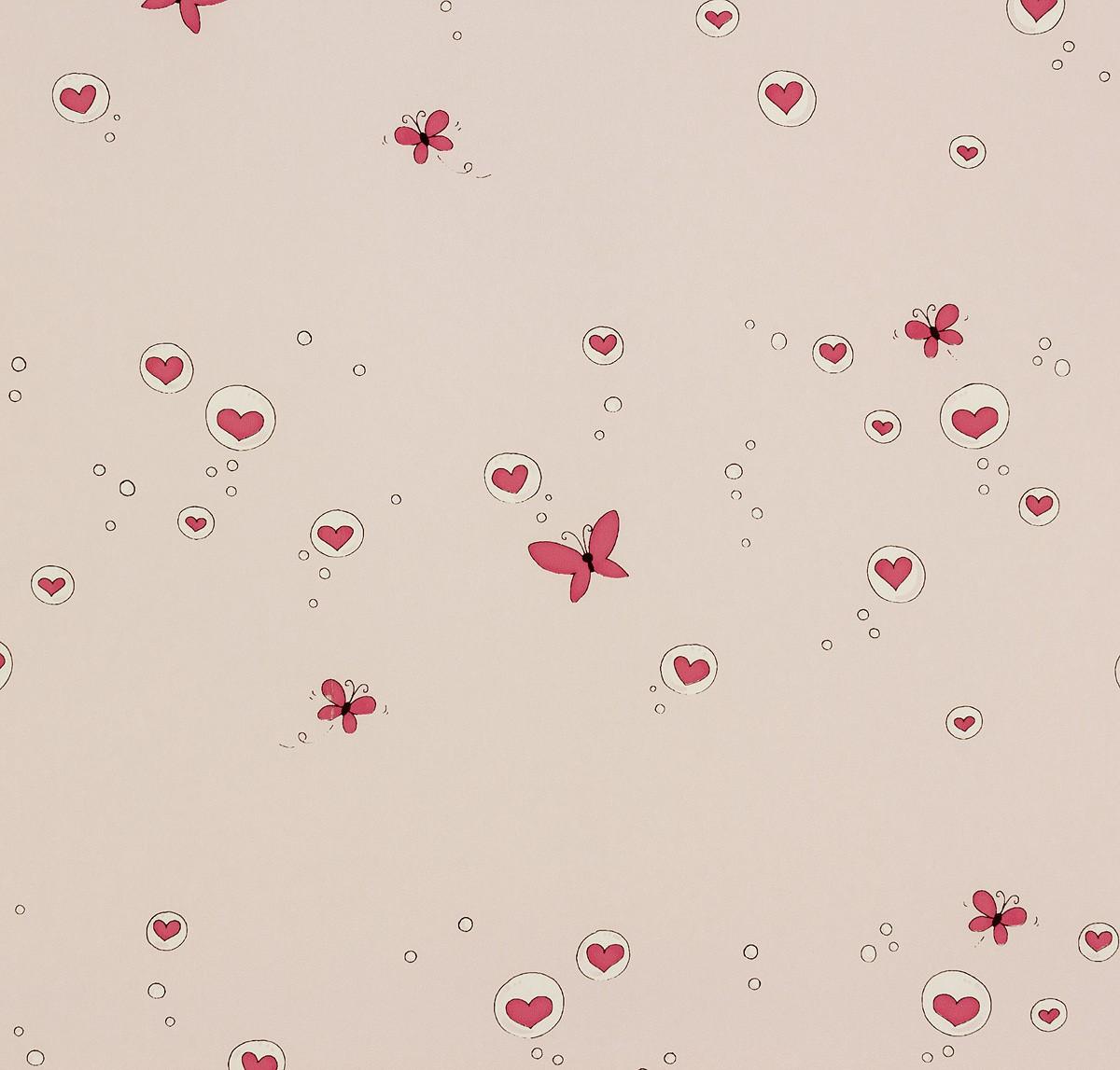Barbara Becker Tapete Schmetterling : Tapete rosa Kinder Girotondo Rasch Textil 006008