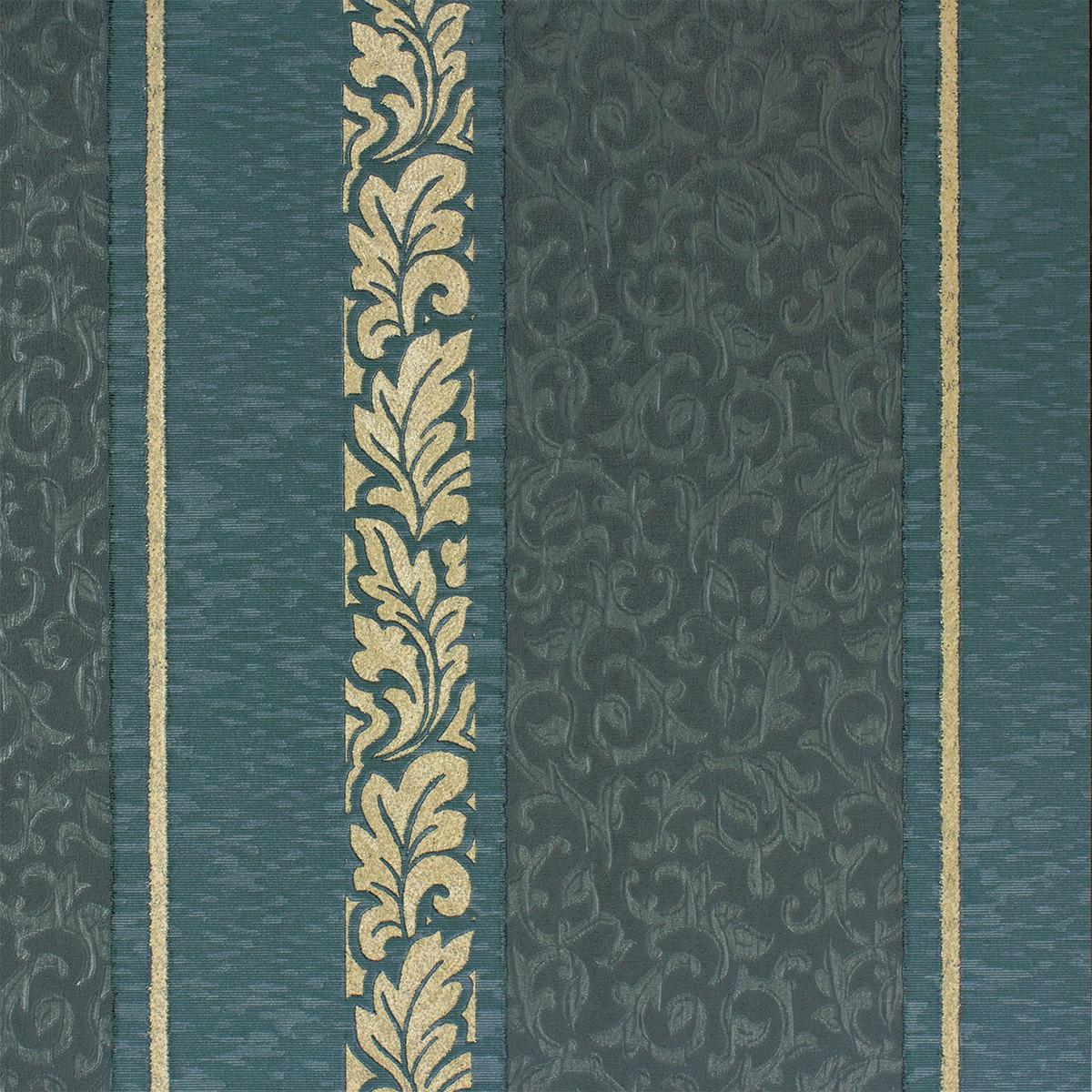 tapete streifen barock t rkis creme tapeten rasch textil. Black Bedroom Furniture Sets. Home Design Ideas