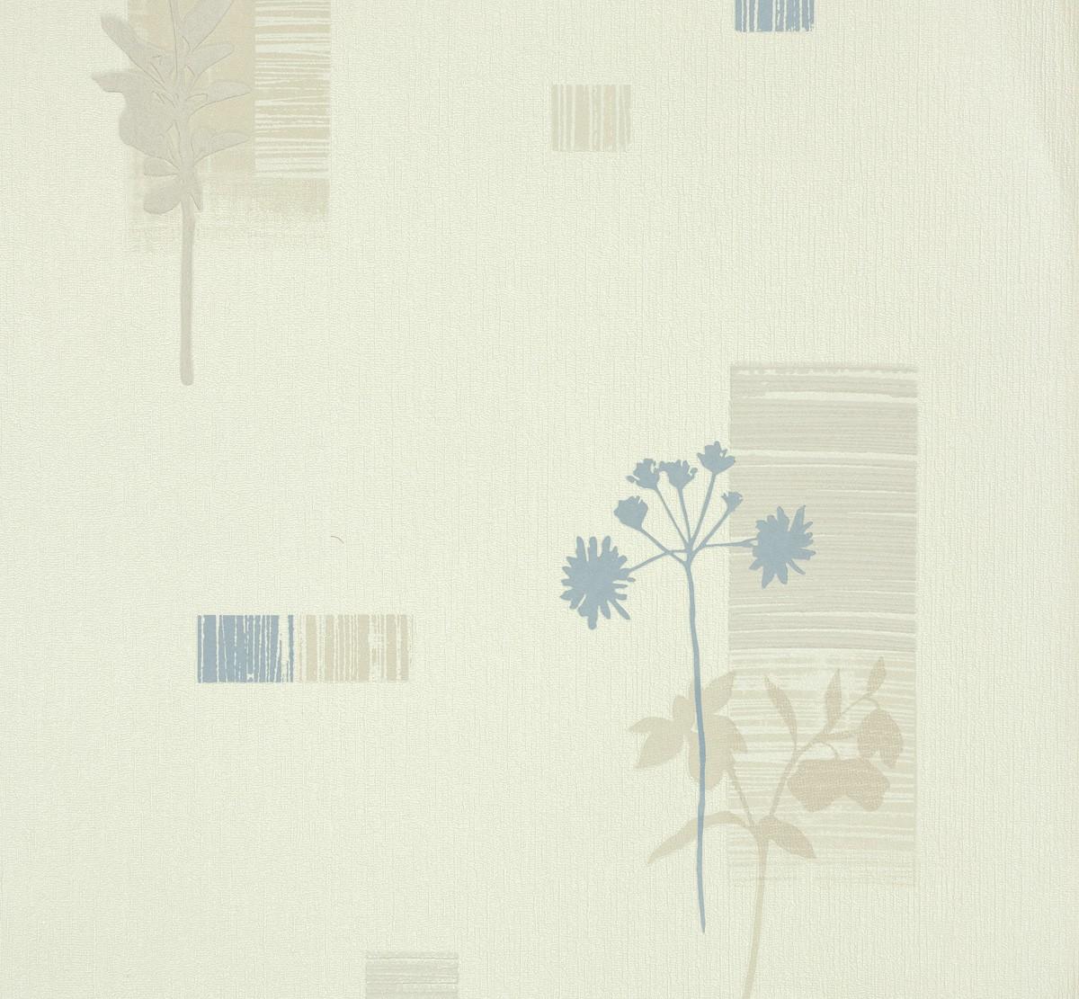 Tapete AS Creation Bahamas 95622-2 956222 floral weiß blau ...