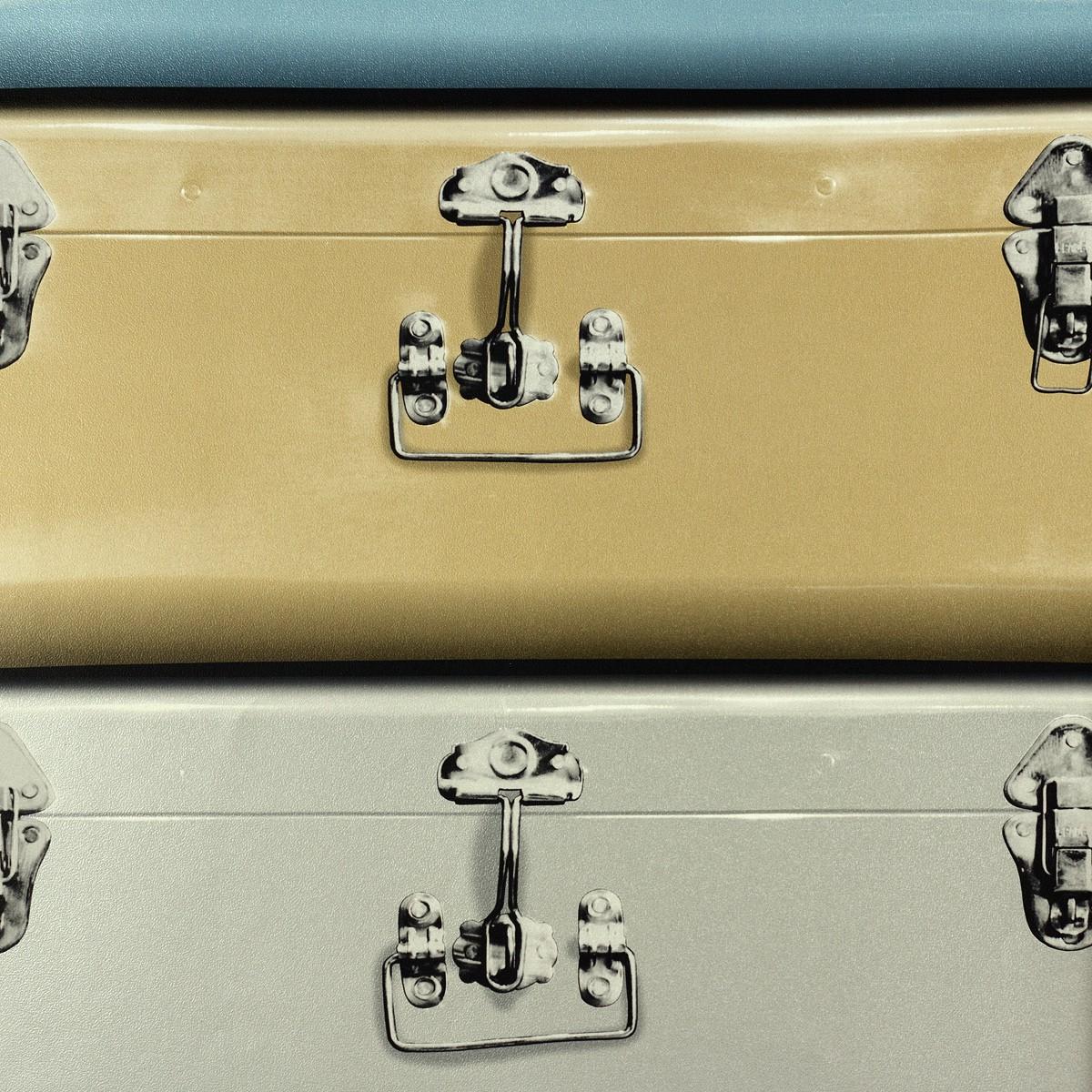 tapete koffer blau gold silber tapeten rasch textil newage. Black Bedroom Furniture Sets. Home Design Ideas