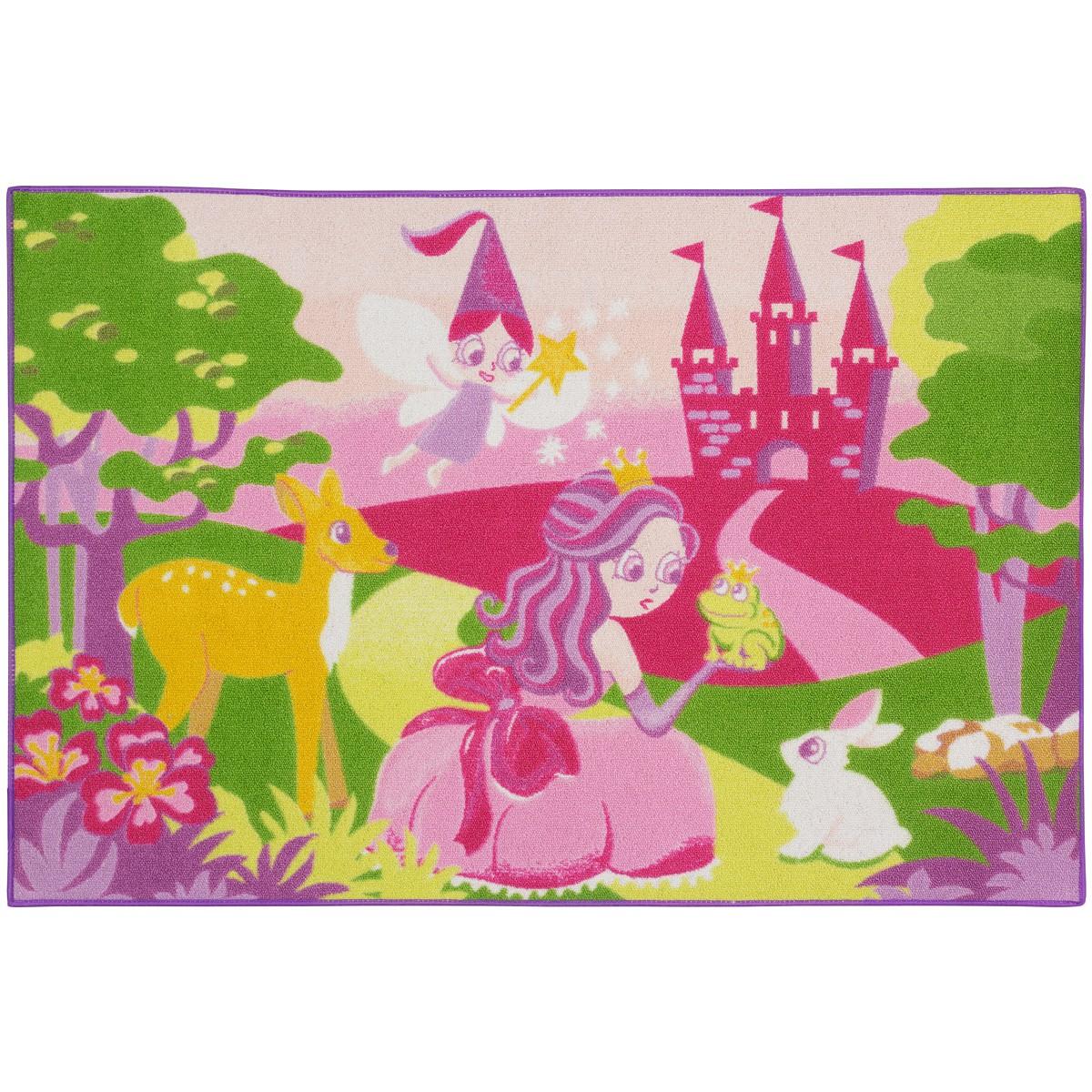 Teppich Kinderteppich Prinzessin Fee Tiere Spielteppich
