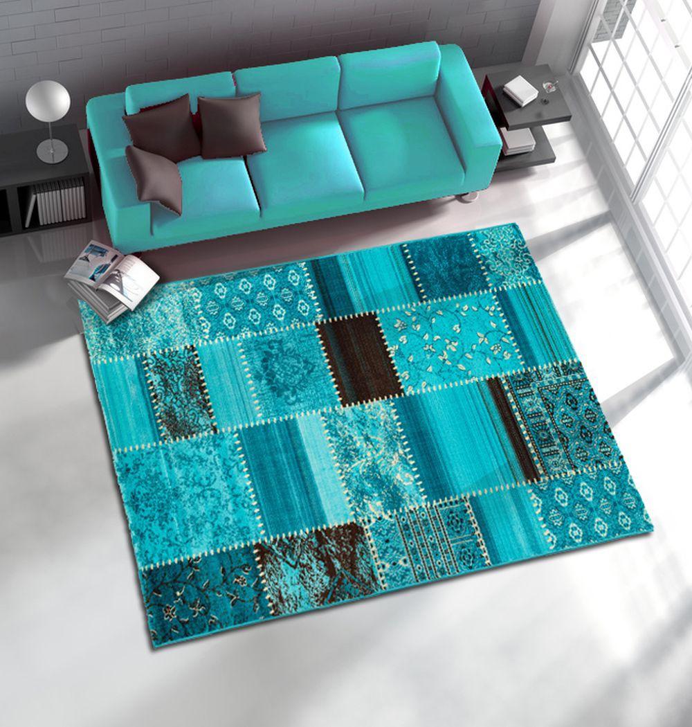 rug maya woven rug patchwork rag rug optic in 4 sizes. Black Bedroom Furniture Sets. Home Design Ideas
