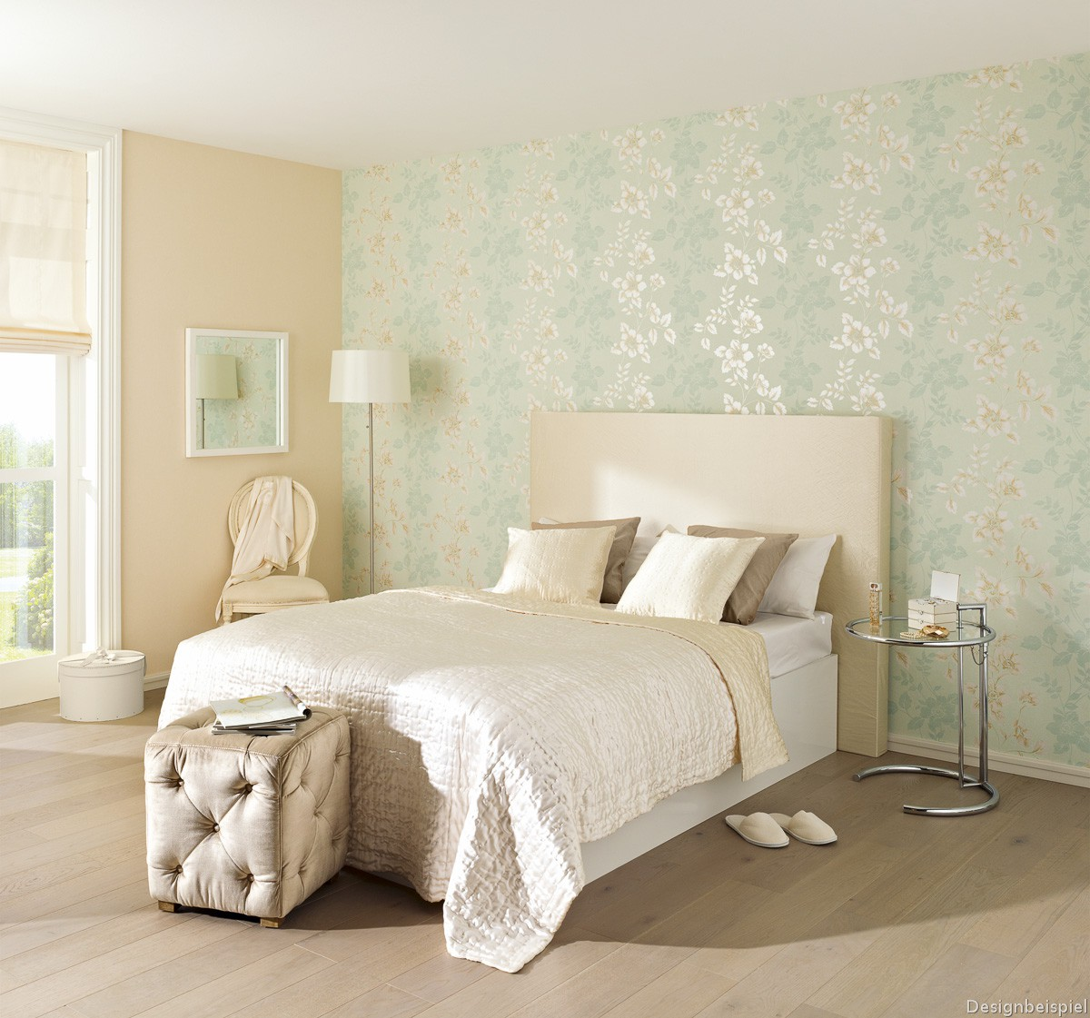 Coole Tapeten Skandinavisch Schlafzimmer Landhaus Tapete Beige Ideen Bilder