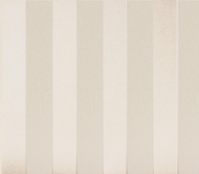 vliestapete streifen creme metallic tapeten rasch textil. Black Bedroom Furniture Sets. Home Design Ideas