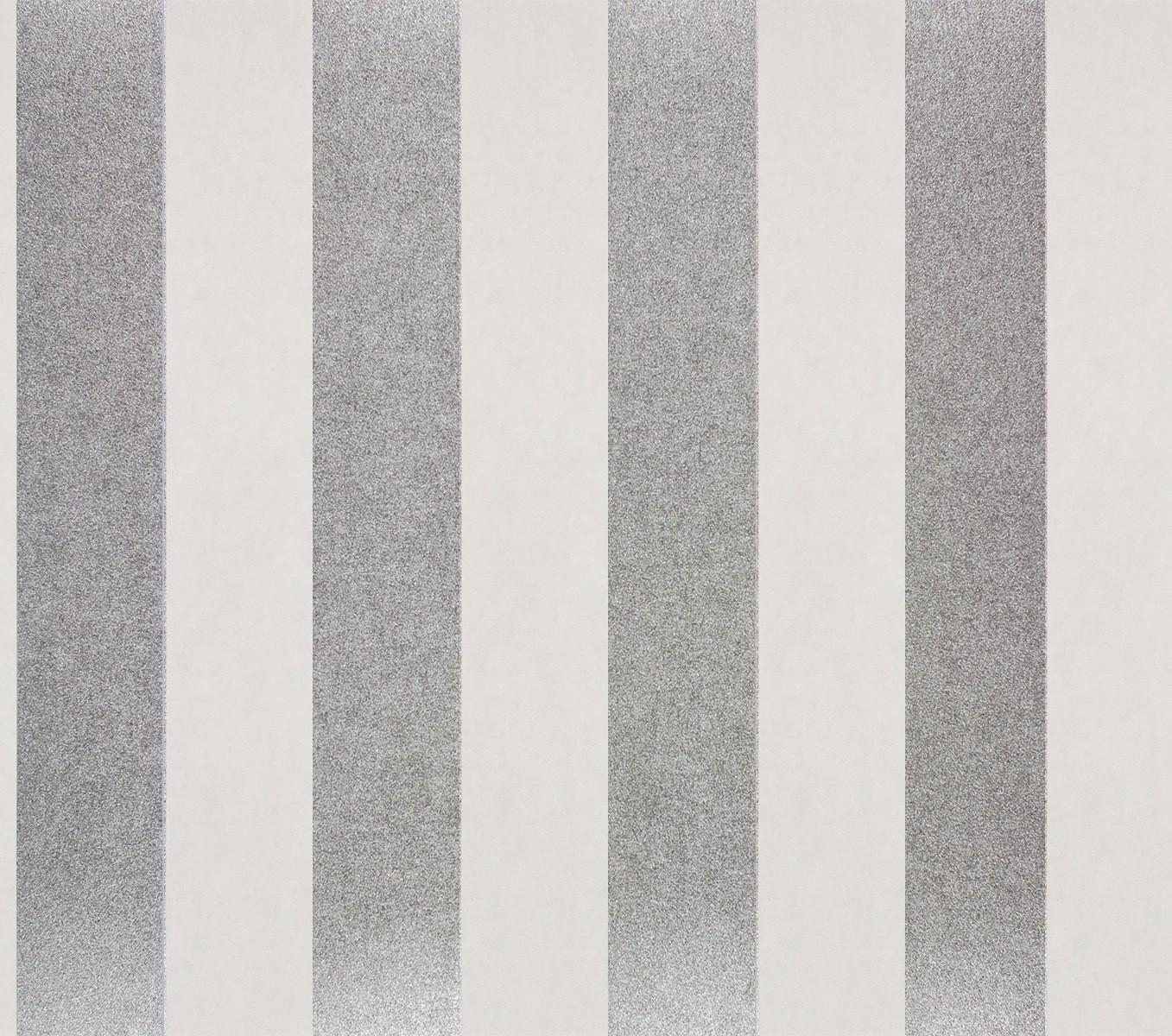 vliestapete streifen wei silber metallic tapeten rasch textil tapete comtesse 225432. Black Bedroom Furniture Sets. Home Design Ideas