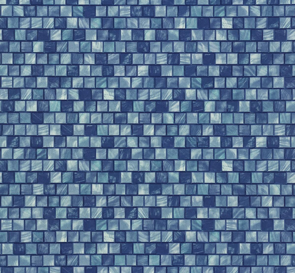 vliestapete mosaik blau p s origin 42103 10