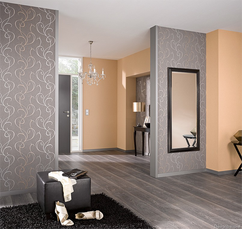 vliestapete ranken grau silber isabella 5915 11. Black Bedroom Furniture Sets. Home Design Ideas